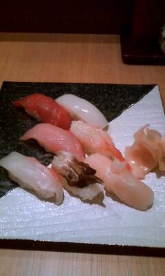 ご飯はお寿司♪